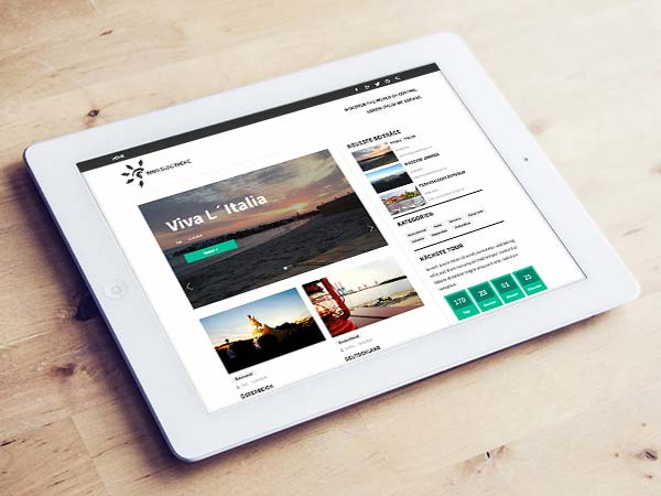 Contao Blog Theme Tabletansicht