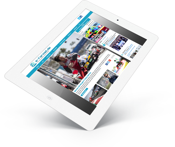 Formel E Relaunch Tabletansicht